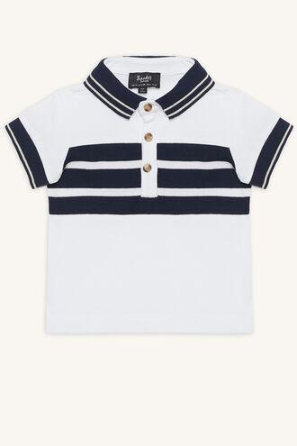 HAMILTON POLO TOP in colour BRIGHT WHITE