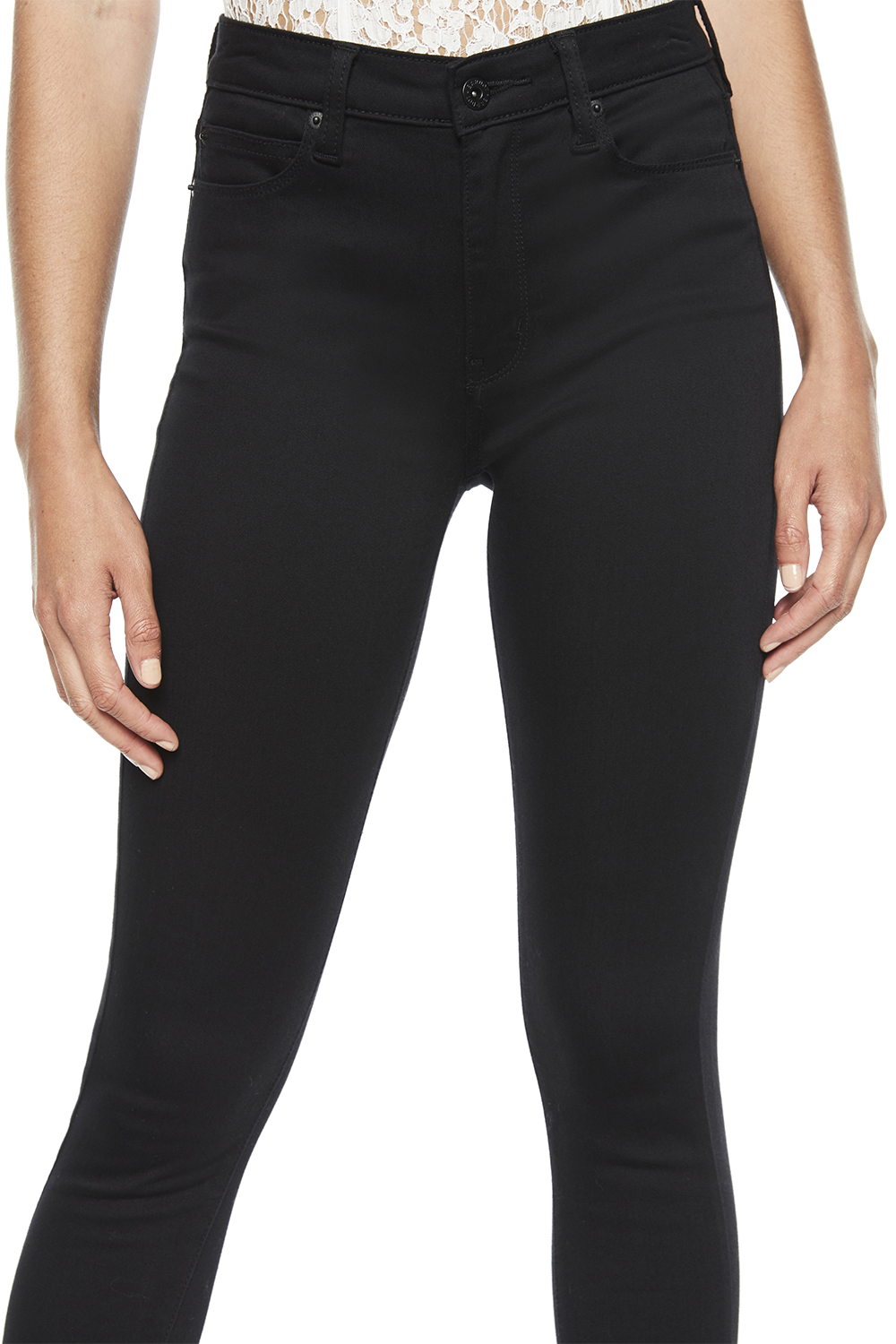 KHLOE HIGH JEAN in colour JET BLACK
