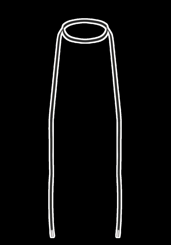 LEATHERETTE LARIAT CHOKER in colour METEORITE