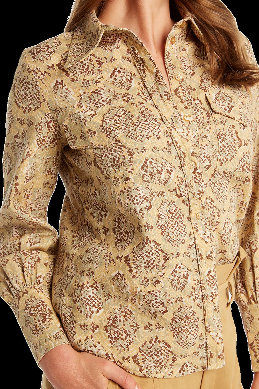 SNAKE BUTTON SHIRT in colour APPLEBLOSSOM