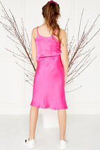 tween girl gretta cami in colour SHOCKING PINK