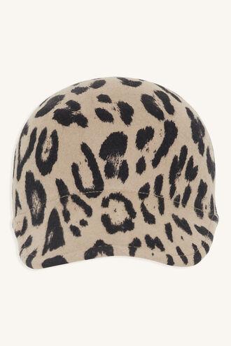 ANIMAL MOULDED FELT CAP in colour ANTELOPE