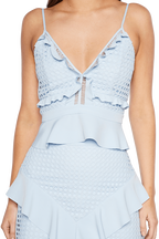 FAE LACE BUSTIER in colour SKYWAY