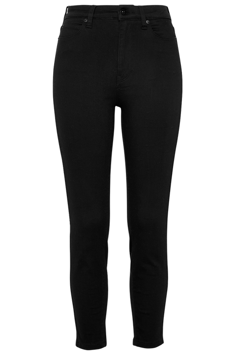 KHLOE HI CROP JEAN in colour CAVIAR