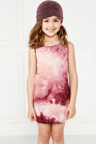 BERRY TIE DYE DRESS in colour MAUVEWOOD