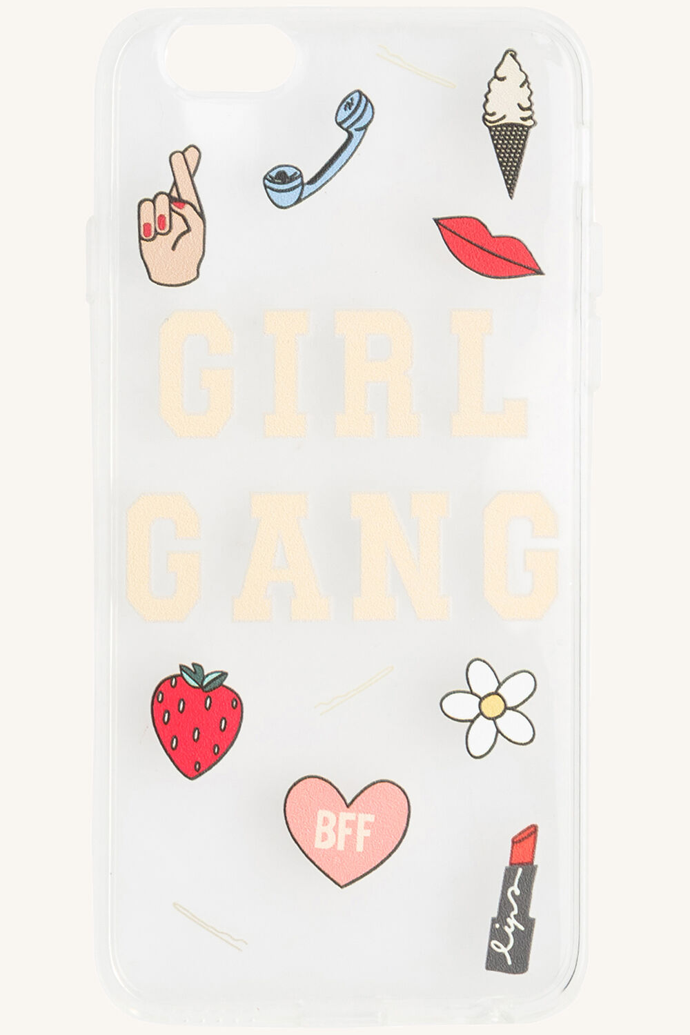 IPHONE 6 girl gang phone cover in colour BRIGHT WHITE