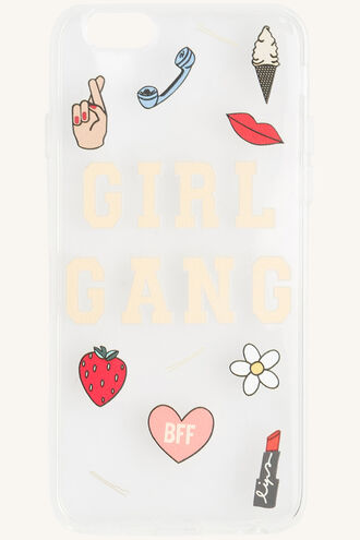 GIRL GANG PHONE COVER in colour BRIGHT WHITE