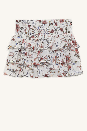 INDI SHIRRED SKIRT in colour CLOUD DANCER