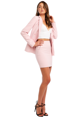 ROMY MINI SKIRT in colour CAMEO PINK