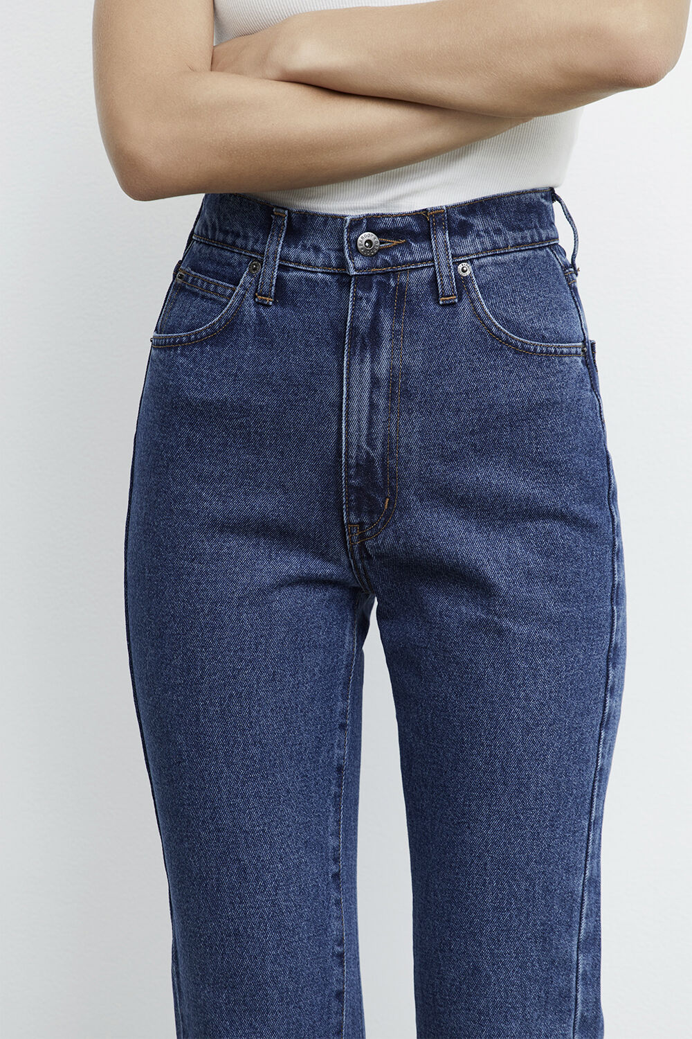 GISELE STRAIGHT FULL LEG JEAN in colour TRUE NAVY
