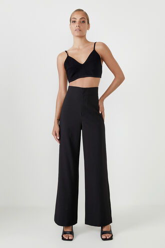 ANNA HIGH WAIST PANT in colour CAVIAR