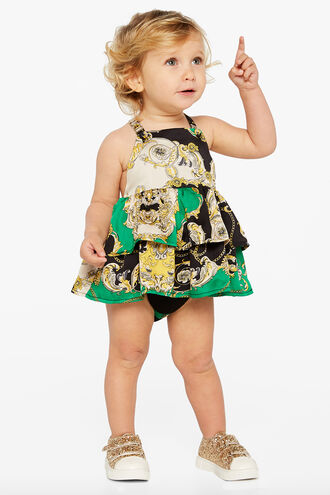 FRILL APRON GROW in colour CLASSIC GREEN