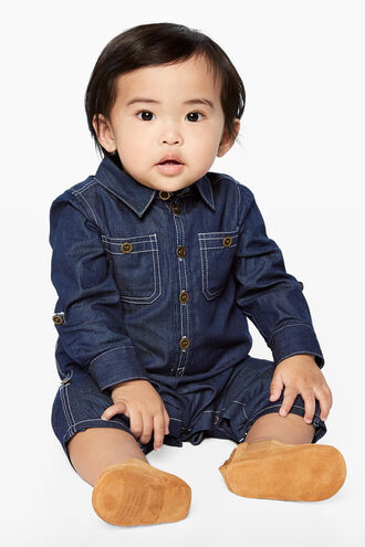ARI DENIM BOILERSUIT in colour BLUE INDIGO