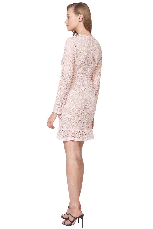 SASHA LACE DRESS in colour PARFAIT PINK