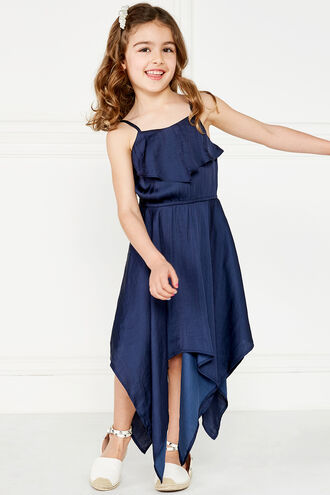 MILA HANKY DRESS in colour MARITIME BLUE