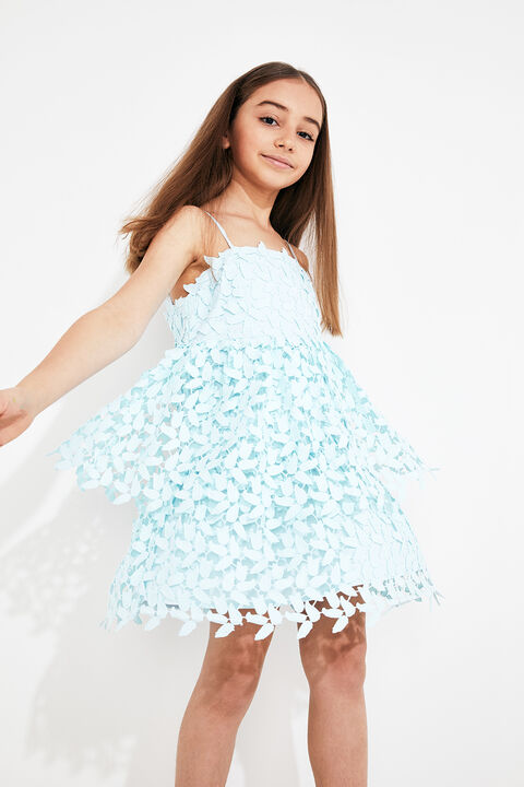 TWEEN GIRL DARCY LEAF DRESS