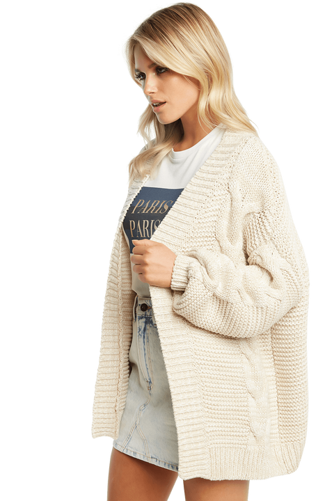 CHUNKY CARDI in colour OYSTER GRAY