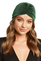 TWISTED TURBAN in colour GREEN ASH