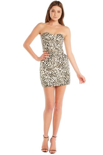 METALLIC LEOPRD MINI in colour WHISPER WHITE