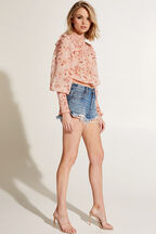 REMI BLOUSE in colour PEACH MELBA