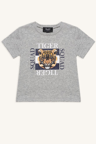 TIGER SQUAD TEE in colour MOONBEAM