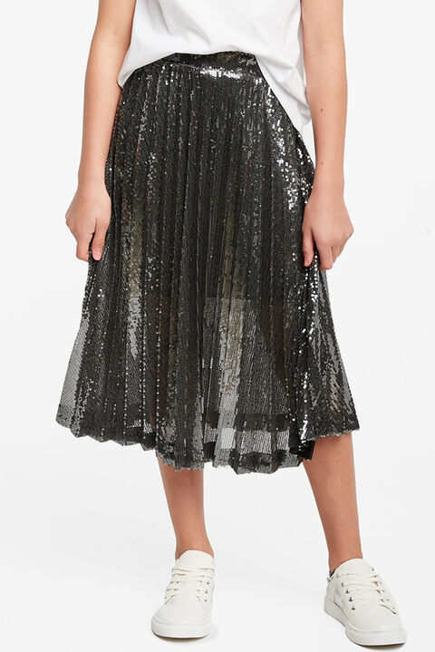 IVA SEQUIN PLEAT SKIRT