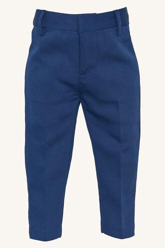 TEXTURED SUIT PANT in colour DRESS BLUES