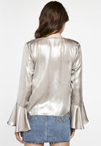 SHIMMER TIE TOP in colour SILVER