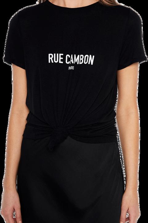 RUE CAMBON PRINT TEE in colour CAVIAR