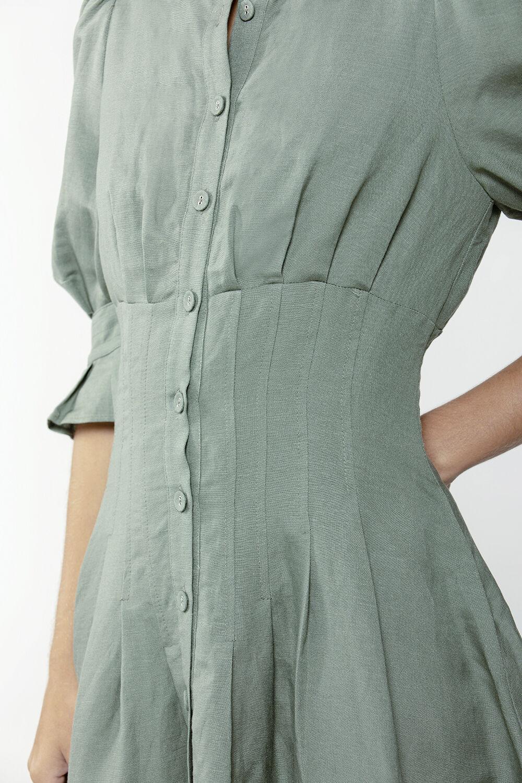 AURORA MINI DRESS in colour IVY GREEN