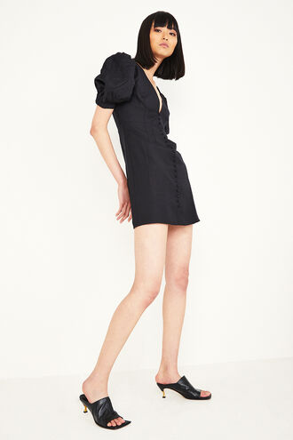 TALULLAH MINI DRESS in colour CAVIAR