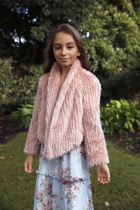 TWEEN GIRL MAY WATERFALL JACKET in colour TUSCANY