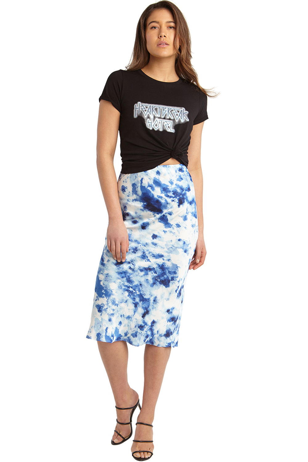 KENDAL BIAS SKIRT in colour TURKISH SEA