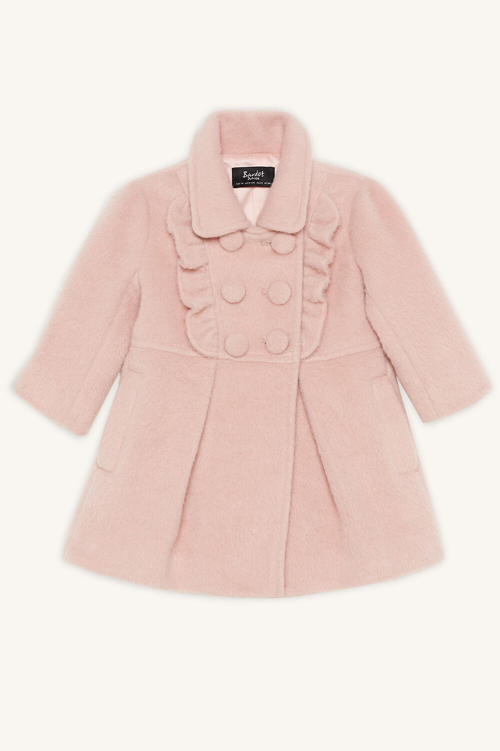 MAY FRILL PEA COAT in colour SHELL