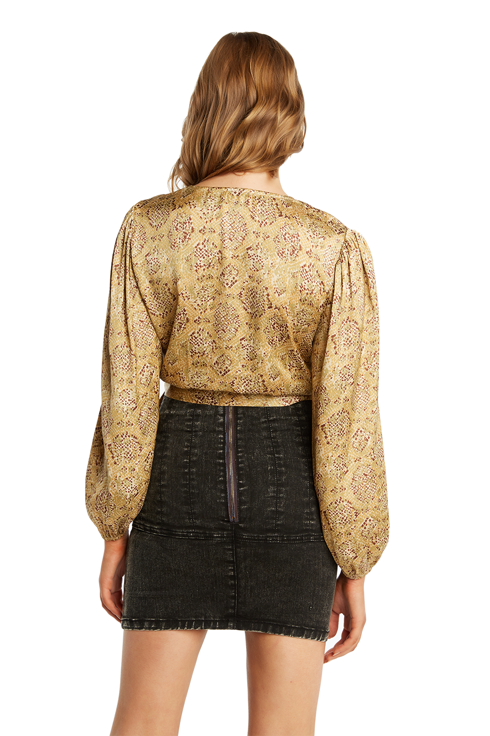 ELENA PRINT BLOUSE in colour APPLEBLOSSOM