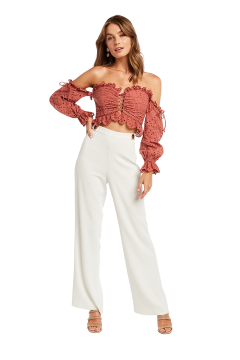BRODERIE SHOULDER TOP