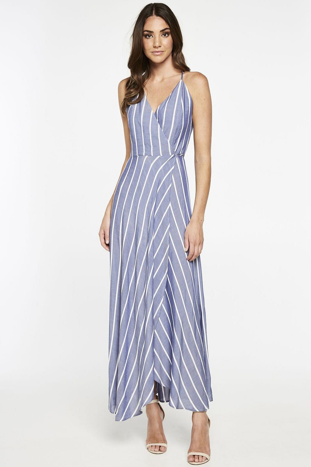 RAELYN WRAP DRESS in colour BLUE BONNET