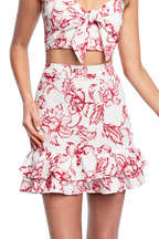 TALIA SHIRRED SKIRT in colour CLOUD DANCER