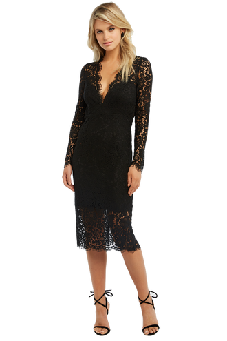 2a22662b3aed RHONDA LACE DRESS in colour CAVIAR