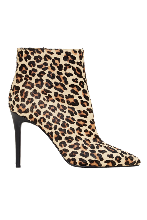 LEOPARD ANKLE BOOT in colour ANTELOPE