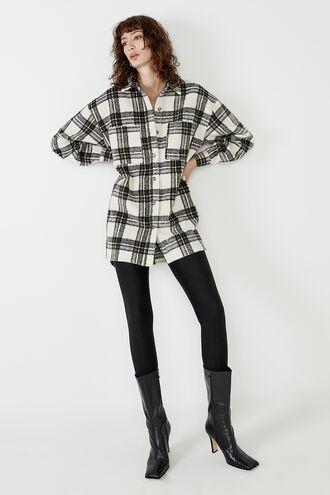 CHECKED FLANNEL SHIRT in colour MOONLIGHT