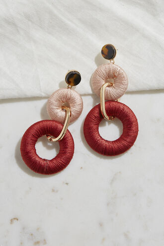 CORD DROP EARRINGS in colour BRIGHT WHITE