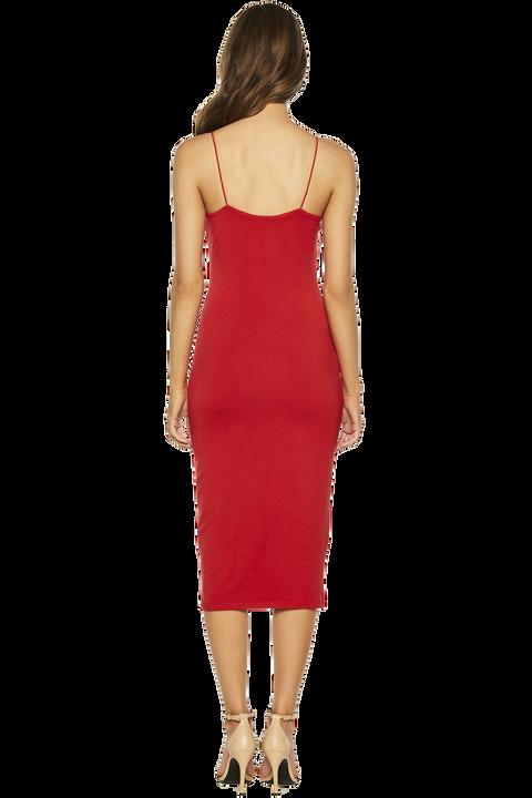 SONIA DRESS in colour CRIMSON