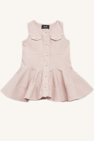 ALICE DENIM DRESS in colour MISTY ROSE