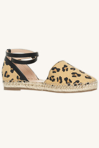 LEOPARD ESPADRILLES in colour ANTELOPE