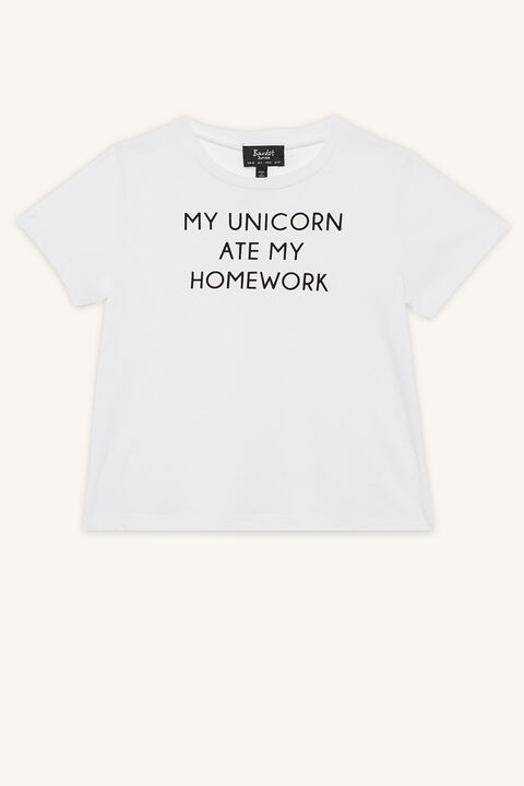 MY UNICORN TEE in colour CLOUD DANCER