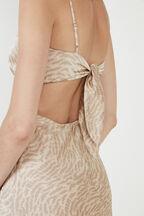 KATE TIE BACK SLIP DRESS in colour TURTLEDOVE