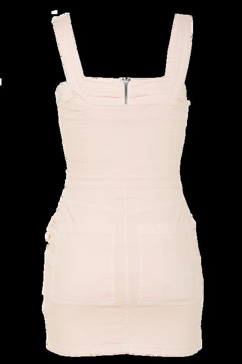 PINK DENIM ZIP DRESS in colour SHRINKING VIOLET