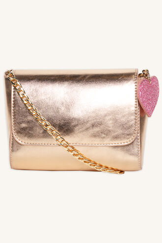 LITTLE METALLIC SLING BAG in colour BRIGHT WHITE
