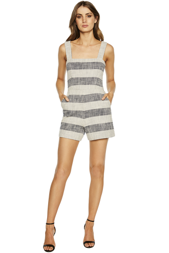 TEXTURED PLAYSUIT in colour ALMOND OIL